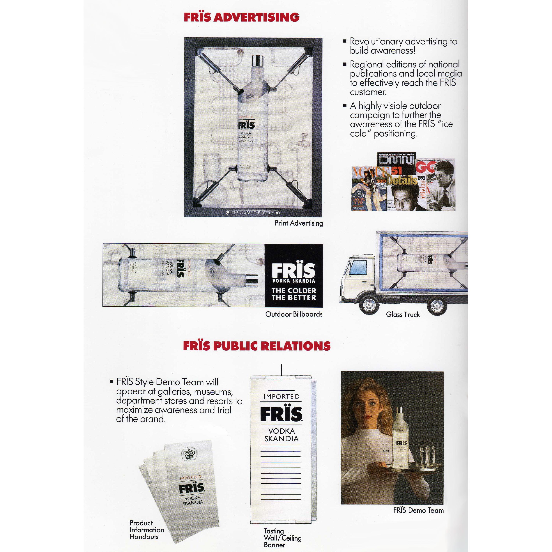 Frïs Vodka Marketing Materials
