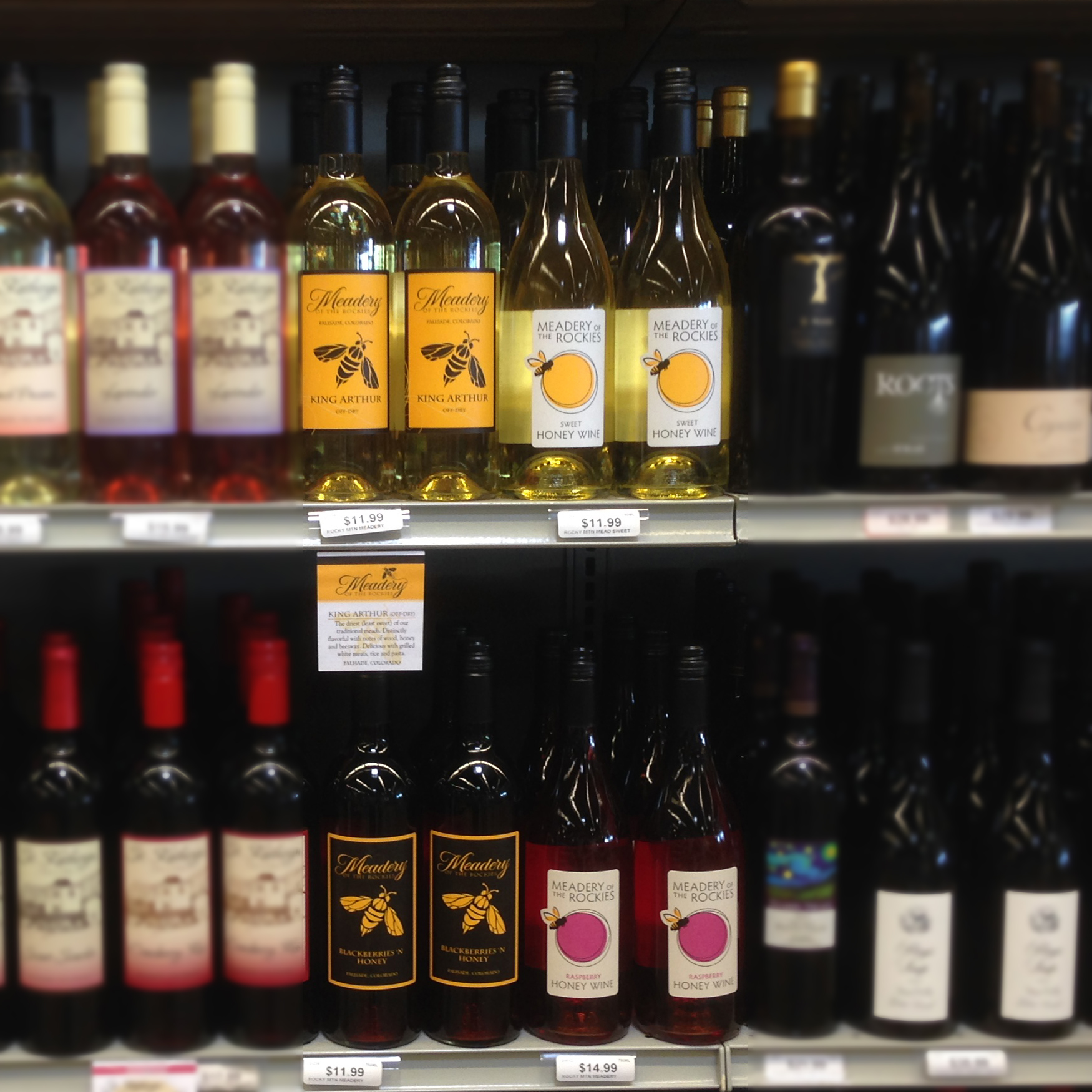 Meadery of the Rockies Retail Shelf
