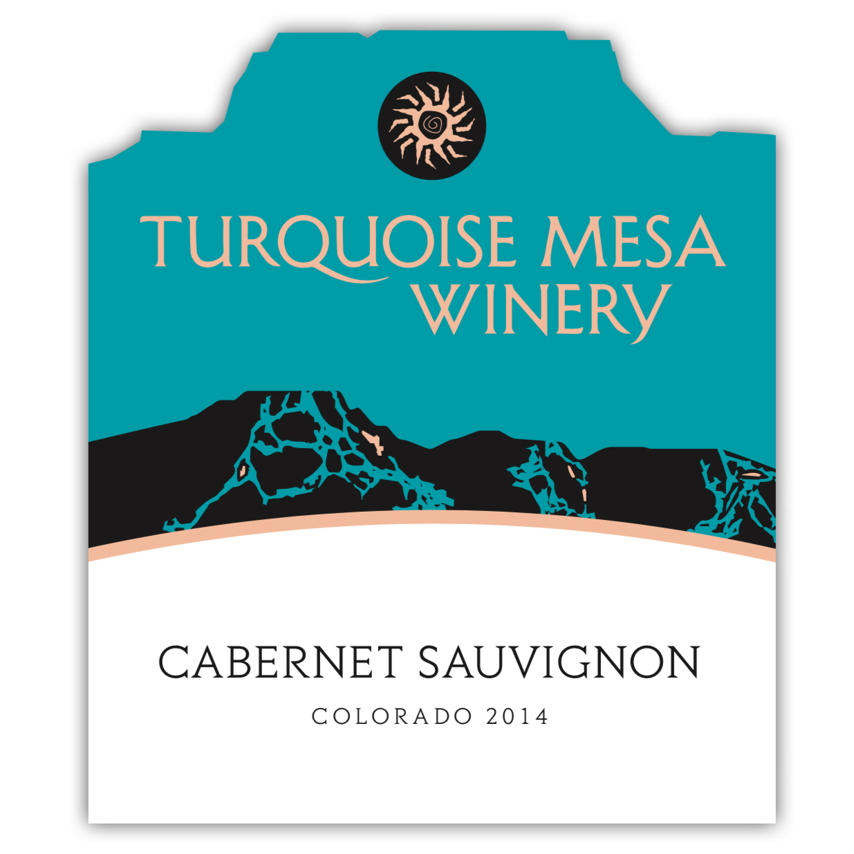 Turquoise Mesa wine label